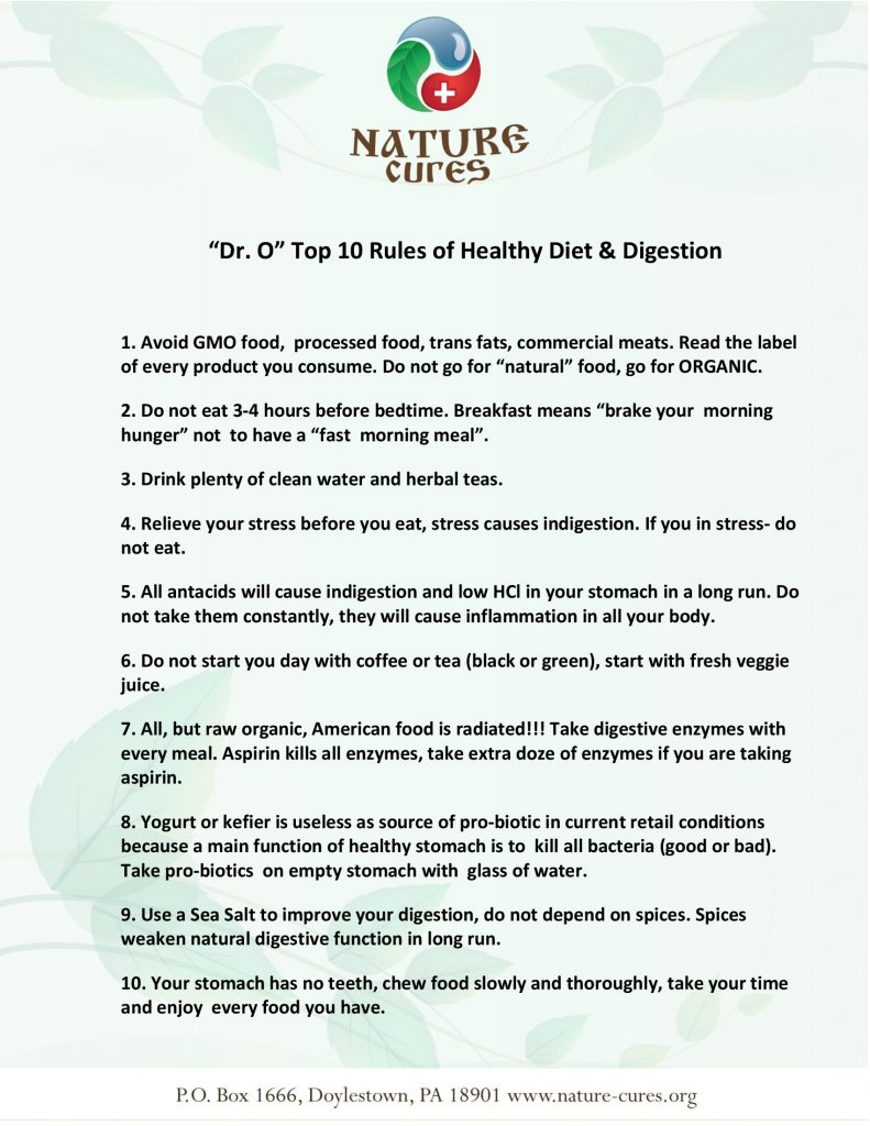10-rules for DIgestion